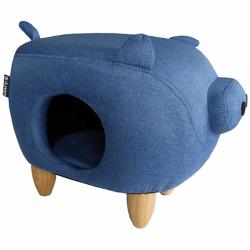 Sömn – Pig Collection Blue Canvas pour Chat – Bleu