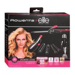 ROWENTA Elite – Multistyler – Fer à coiffer/Fer à lisser 7 en 1 – Noir