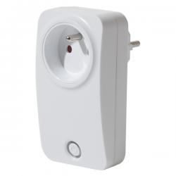 PRISE CONNECTEE 10A WIFI blanc, Compatible avec Alexa et Google Home